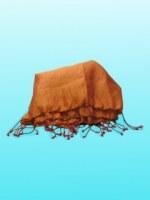 Etole en soie naturelle fine or reflets bordeaux