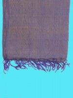 Etole en soie naturelle fine or reflets bleus