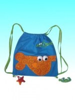 Sac à dos goûter Aqu'Happy bleu poisson orange