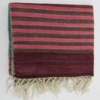 Etole 100% laine 180x 30 cm tons verts et bleus à grands carreaux