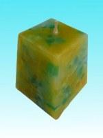 Bougie pépite carrée vert jaune