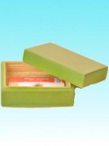 Boîte bambou carte visite vert