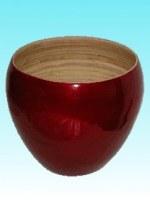 Saladier bambou globe rouge
