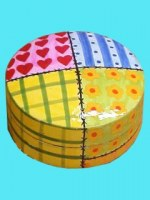 Boîte ronde patchwork