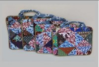 Laptop bags, patchwork fabric material 17'