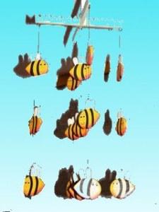 Suspension abeilles