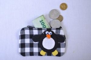 porte monnaie pingouin