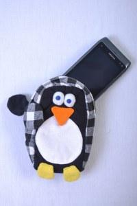 housse bandoulière pour portable pingouin compatible iphone 5