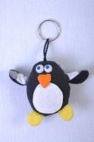 porte clés pingouin en coton