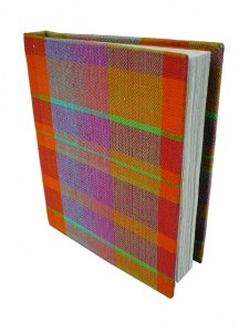 carnet madras grand 15 x 20,5 cm recouvert de madras coton