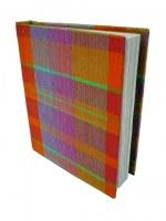 carnet madras 20.5 x15.5 cm recouvert de madras coton