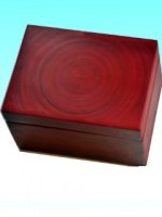Boite bambou  grand modèle  rouge