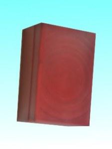 Boîte bambou carte visite rouge