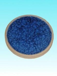 Support céramique rond bleu foncé 10 cm