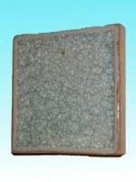 Support céramique carré bleu clair 12 cm