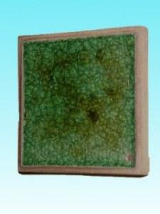 Support céramique carré vert 12 cm