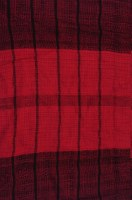 Etole 100% coton rouge rayures noires 180 x 40 cm