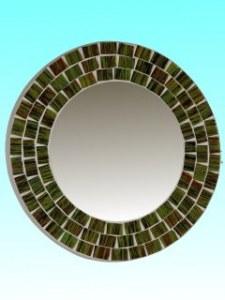Miroir rond 15 cm vert