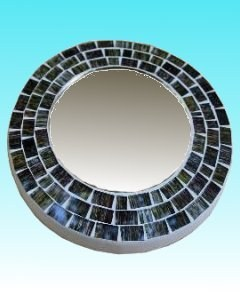 Miroir rond 15 cm dark