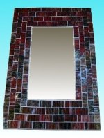 Miroir rectangulaire 20 x 25 rouge