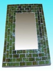 Miroir rectangulaire 20 x 25 vert