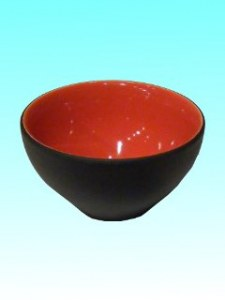 Mini-bol rouge et noir
