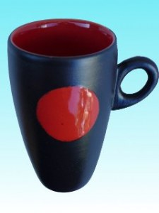 Tasse soleil rouge