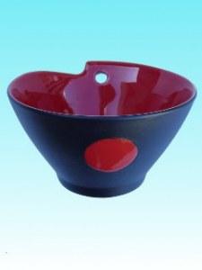 Bol à nouilles PM Noir et rouge