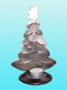 Photophore arbre de noel plat