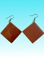 Boucles d'oreille carrée couleur cuivre