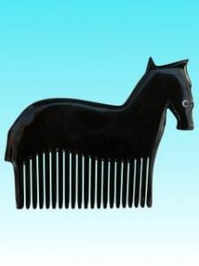 Peigne corne  cheval