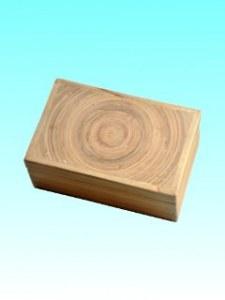 Boîte bambou carte visite naturel