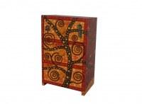 Cabinet à bijoux artistique thème ROUGE