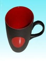 Mug haute ronde rouge et noire