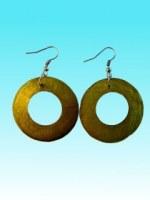 Boucles d'oreille ronde citron vert en capiz