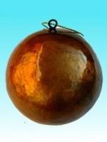 Boule de noel ronde en capiz orange