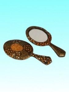 Miroir à main bromo classic 35x16 cm bois de sengon