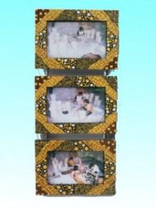 Triptyque mural bromo  pour photos 10x15 cm , 52 x 21 cm