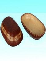Panière bois de Sengon 26x16 cm rouge Ceprik