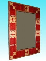 Miroir batik Javanais GM 61x46 cm int 43x28