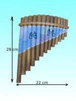 Flûte de pan bambou papillon
