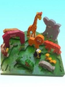 Puzzle encastrements Zoo