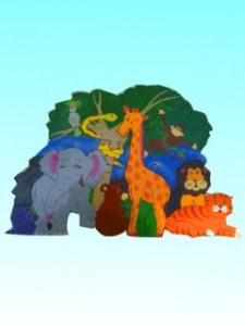 Puzzle décor Animaux de la Jungle
