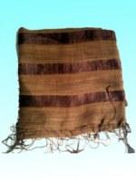 Etole marron 70% coton 30% soie rayée 75x180 cm