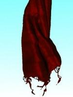 Etole 100% Soie moelleuse unie lie de vin (75 x 170 cm)