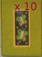 Lot de 10 carnets papillon