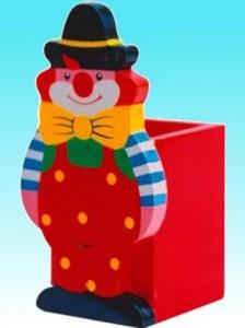 Pot à crayons clown