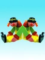 Clowns jumeaux presse-livre