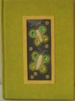 Carnet papillon vert