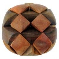 Casse tête ovale double en bois
